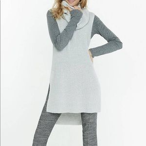 Express oversized cowl neck knit top
